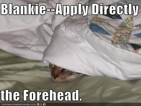 Blankie--Apply Directly to  the Forehead.
