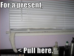 For a present,  < Pull here.