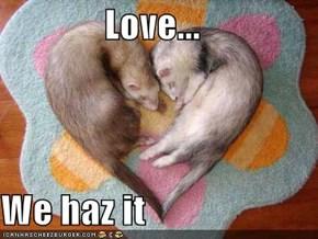 Love...  We haz it