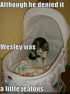 Although he denied it Wesley was   a little jealous...