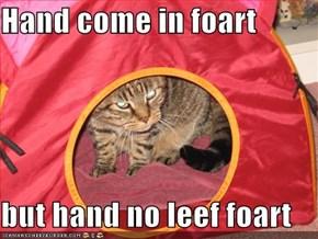 Hand come in foart  but hand no leef foart