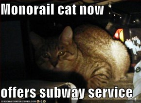 Monorail cat now  offers subway service