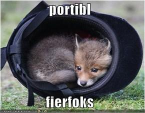 portibl  fierfoks
