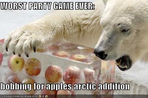 WORST PARTY GAME EVER:  bobbing for apples arctic addition