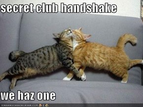 secret club handshake  we haz one