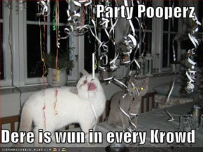 Party Pooperz  Dere is wun in every Krowd