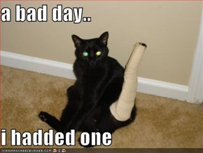 a bad day..  i hadded one