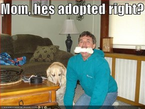 Mom, hes adopted right?