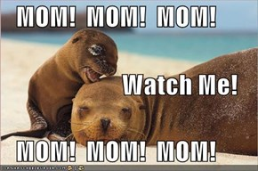 MOM!  MOM!  MOM!                            Watch Me!    MOM!  MOM!  MOM!