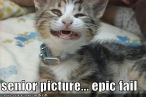senior picture... epic fail