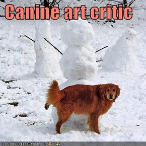 Canine art critic