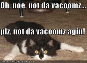 Oh, noe, not da vacoomz... plz, not da vacoomz agin!