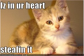 Iz in ur heart  stealin it