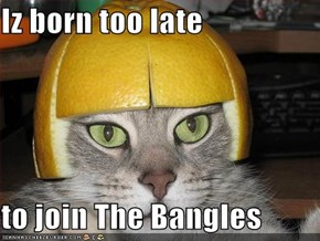 Iz born too late  to join The Bangles