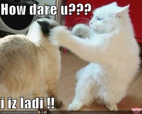 How dare u???  i iz ladi !!