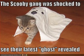"The Scooby gang was shocked to  see their latest ""ghost"" revealed"
