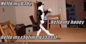 Hello my baby,  hello my honey hello my ragtime gaaaaal....