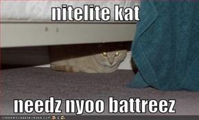 nitelite kat  needz nyoo battreez