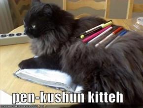 pen-kushun kitteh