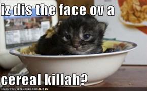 iz dis the face ov a  cereal killah?