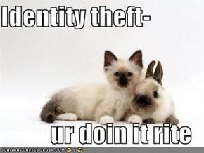 Identity theft-  ur doin it rite