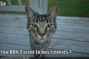 So...  You DON'T want to buy cookies?