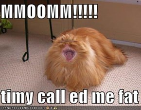 MMOOMM!!!!!  timy call ed me fat