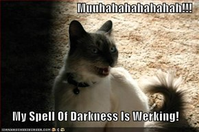 Muuhahahahahahah!!!  My Spell Of Darkness Is Werking!