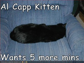 Al Capp Kitten  Wants 5 more mins.