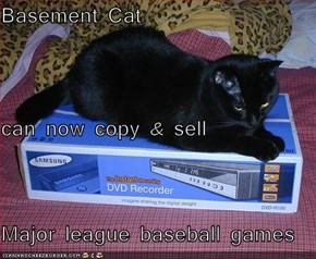 Basement Cat  can now copy & sell Major league baseball games