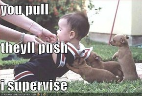 you pull theyll push i supervise