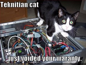Teknitian cat  just voided your waranty.
