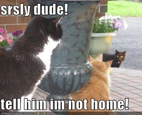 srsly dude!  tell him im not home!