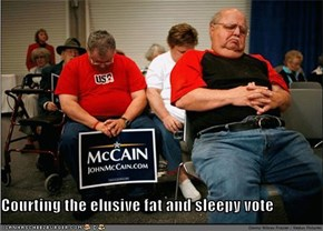 Courting the elusive fat and sleepy vote