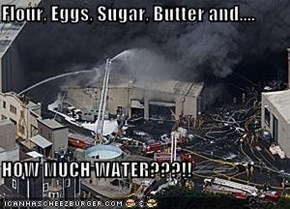 Flour, Eggs, Sugar, Butter and....  HOW MUCH WATER???!!