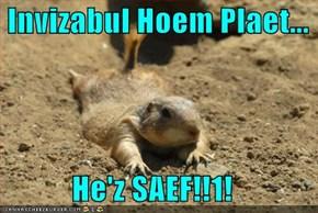 Invizabul Hoem Plaet...  He'z SAEF!!1!