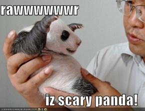 rawwwwwwr  iz scary panda!