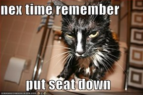 nex time remember  put seat down