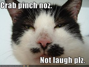 Crab pinch noz.  Not laugh plz.