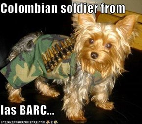 Colombian soldier from   las BARC...