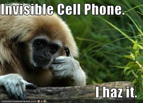 Invisible Cell Phone.  I haz it.