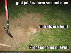 gud job! uz fown sekund clue in trehzure hunt. Proceed to next level!