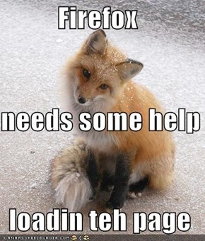 Firefox needs some help loadin teh page