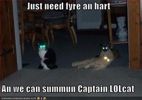 Just need fyre an hart  An we can summun Captain LOLcat