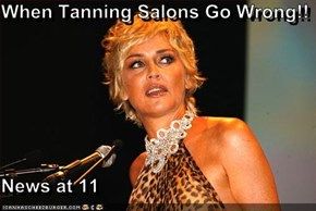 When Tanning Salons Go Wrong!!  News at 11