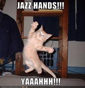 JAZZ HANDS!!!  YAAAHHH!!!