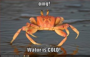 omg!  Watur is COLD!