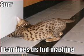 Surr  I can fixes tis fud mazhine