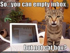 So...you can empty inbox  but not cat box?