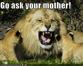 Go ask your mother!